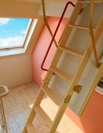 лестница и окно Факро