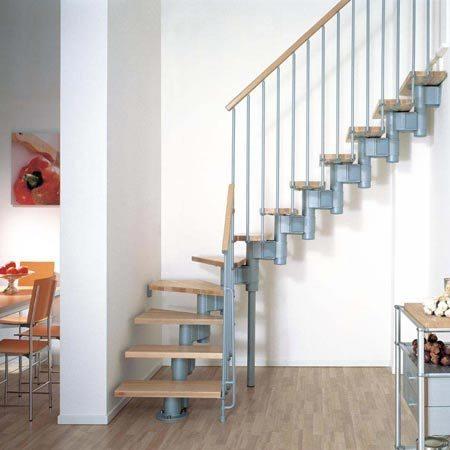 маршевая лестница серый/светлый