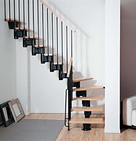 маршевая лестница черный/светлые