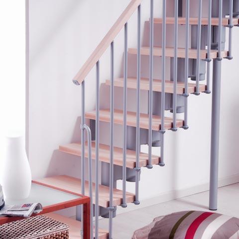 маршевая лестница серый/светлые