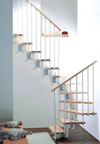 маршевая лестница белый/светлый