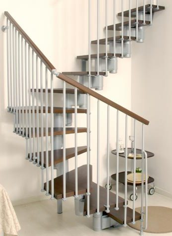 маршевая лестница U серый/темные